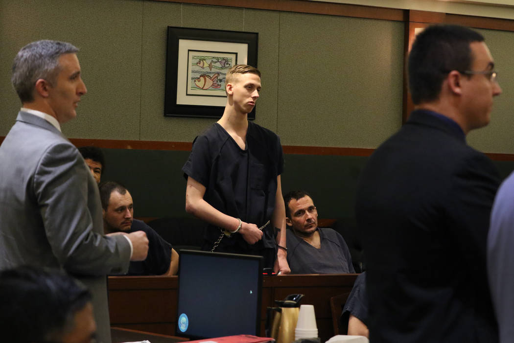 Kody Harlan, convicted in the slaying of Matthew Minkler, appears in court as prosecutor Gianca ...