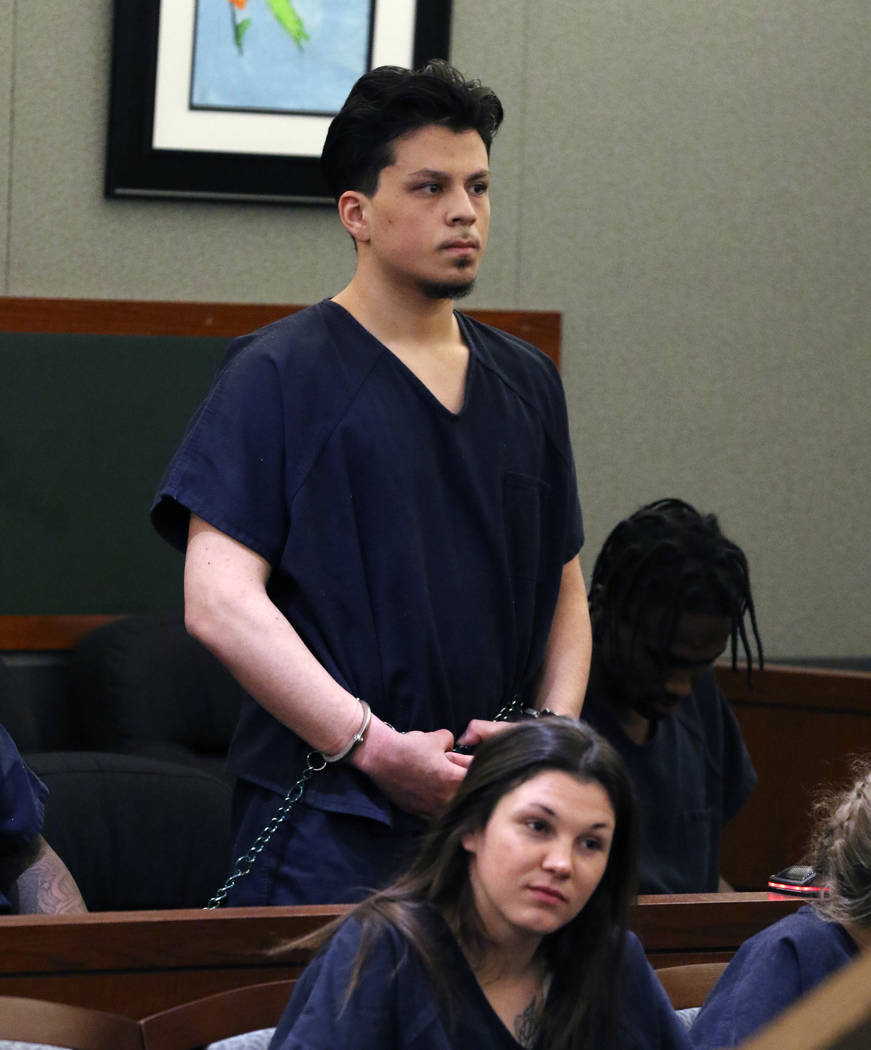 Jaiden Caruso, convicted in the slaying of Matthew Minkler, appears in court at the Regional Ju ...
