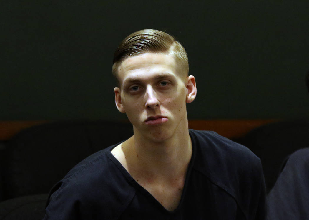 Kody Harlan, convicted in the slaying of Matthew Minkler, appears in court at the Regional Just ...