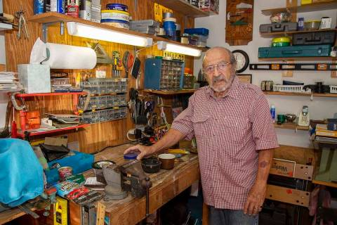 Joe Schiavone, 81, stands Oct. 9, 2019, in his workshop in West Melbourne, Fla. Schiavone will ...