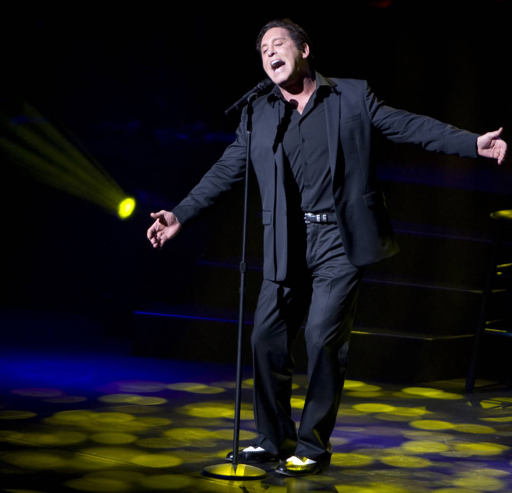 Danny Gans performs at the Encore Theater on Feb. 6, 2009. (Las Vegas Review-Journal) JEFF ...