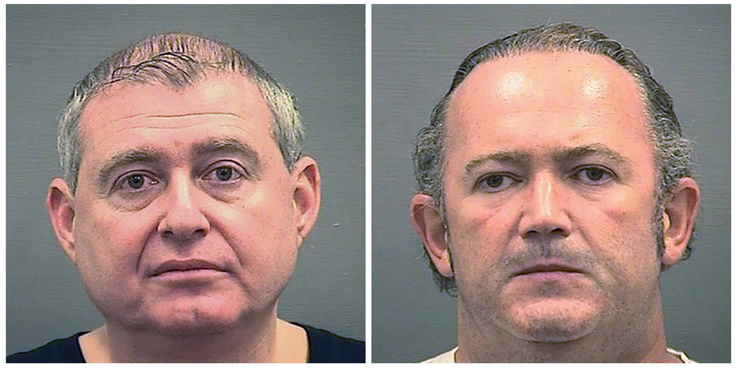 Booking photos provided by the Alexandria Sheriff's Office of Lev Parnas, left, and Igor Frum ...