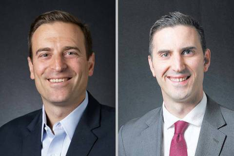 Adam Laxalt, left, and Wes Duncan (Las Vegas Review-Journal)