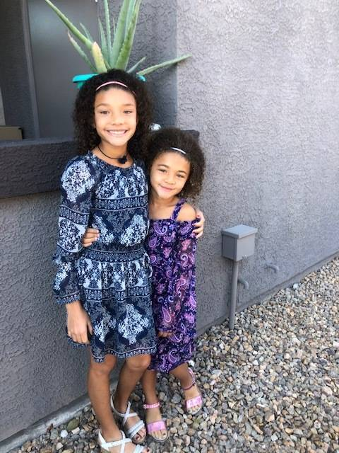 Carmel Mary-Hill's two daughters. In a federal lawsuit filed Thursday, Mary-Hill accused Red Ro ...