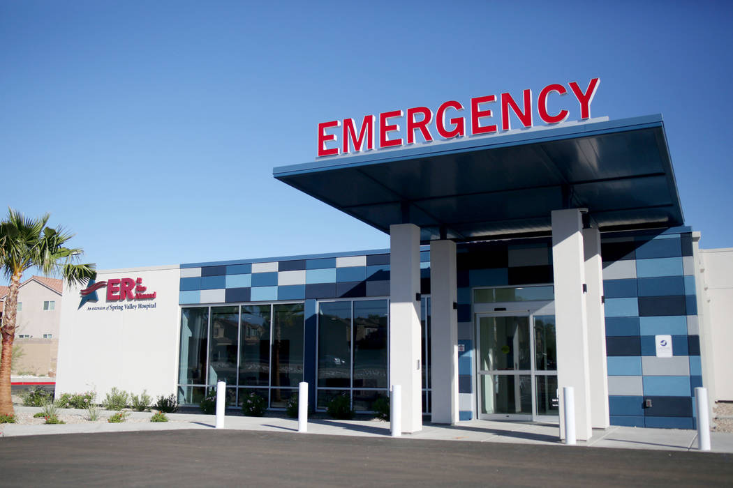 Valley Health System's new freestanding emergency department off of Blue Diamond Rd. And South ...
