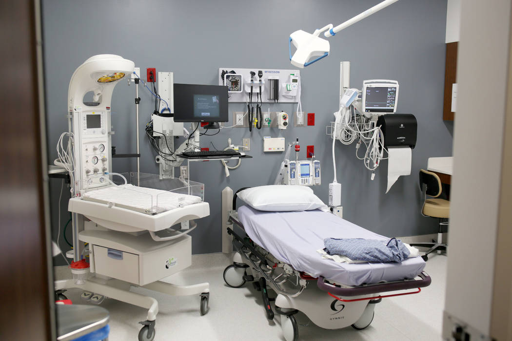 A rapid medical exam room fit for infants and young patients at Valley Health System's new free ...