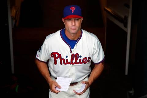 Philadelphia Phillies manager Gabe Kapler walks to the dugout before a baseball game against th ...