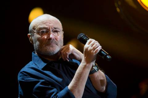 Singer Phil Collins performs at Palacio de los Deportes in Mexico City, Friday, March 9, 2018. ...
