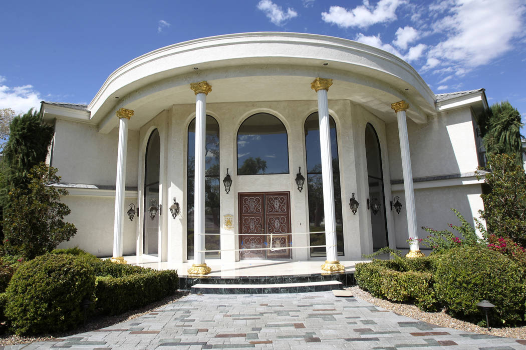 In this Aug. 27, 2013, file photo, the front of Wayne Newton's former residence, Casa de Shena ...