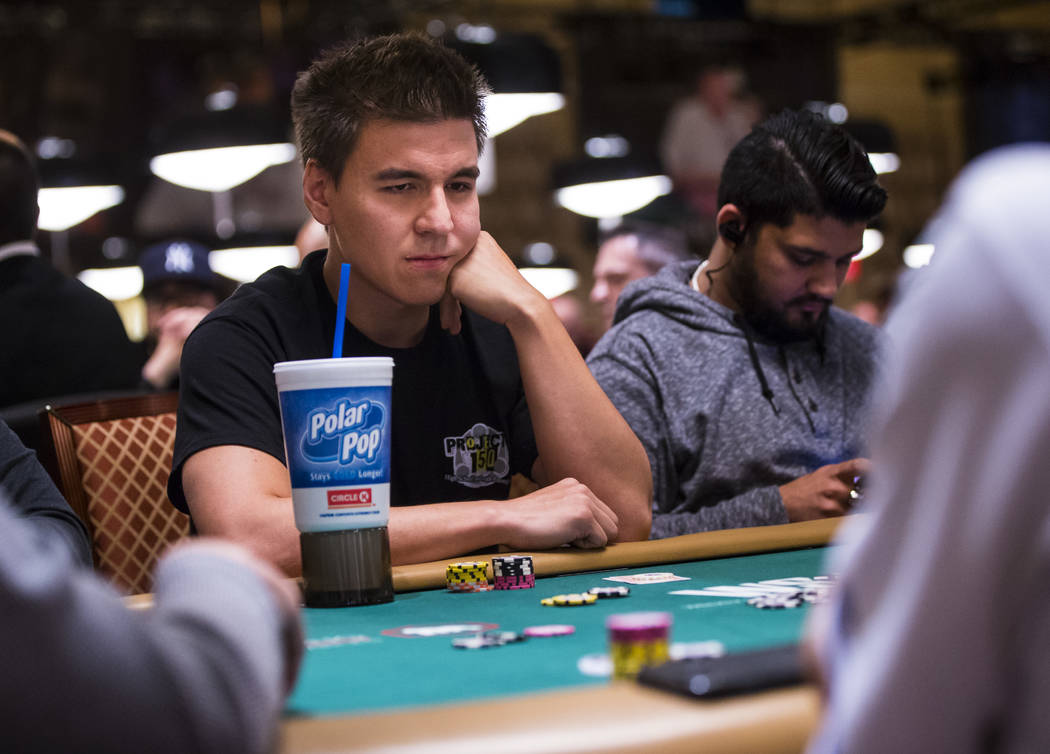 "Las Vegas resident and ""Jeopardy!"" champ James Holzhauer competes in the World Series of Poker ..."