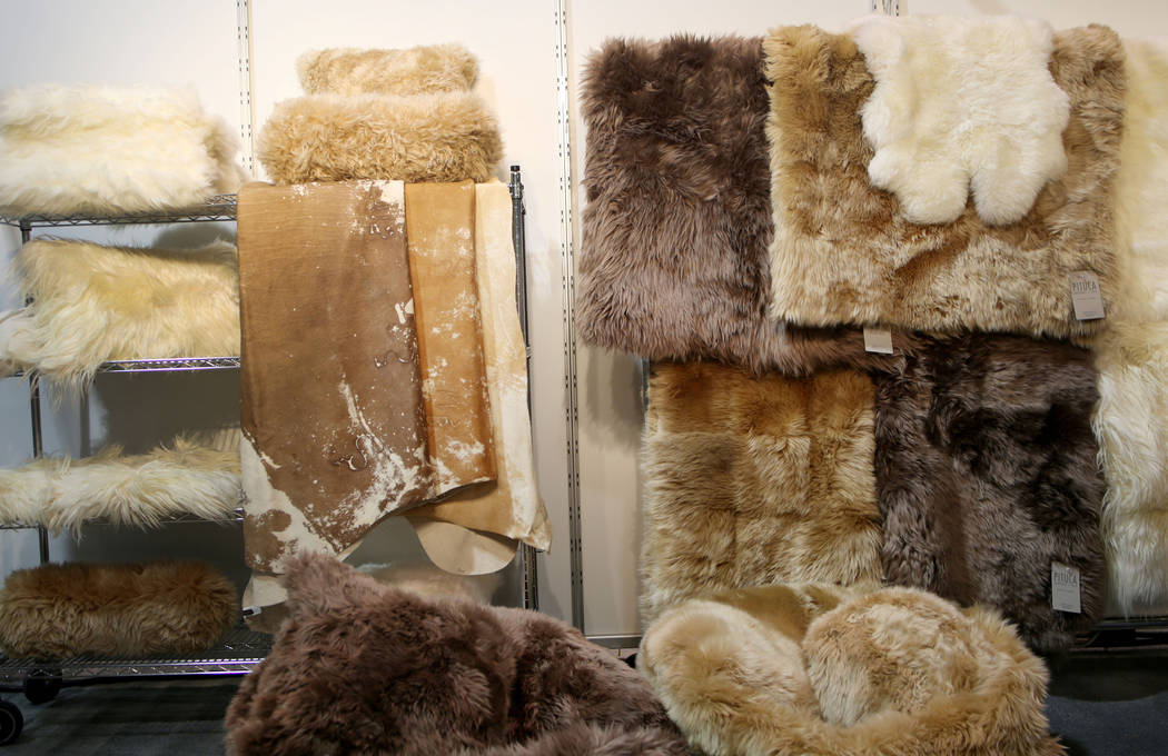 Pitcuca Leathers + Furs display their collection of furs and leather during the media preview o ...