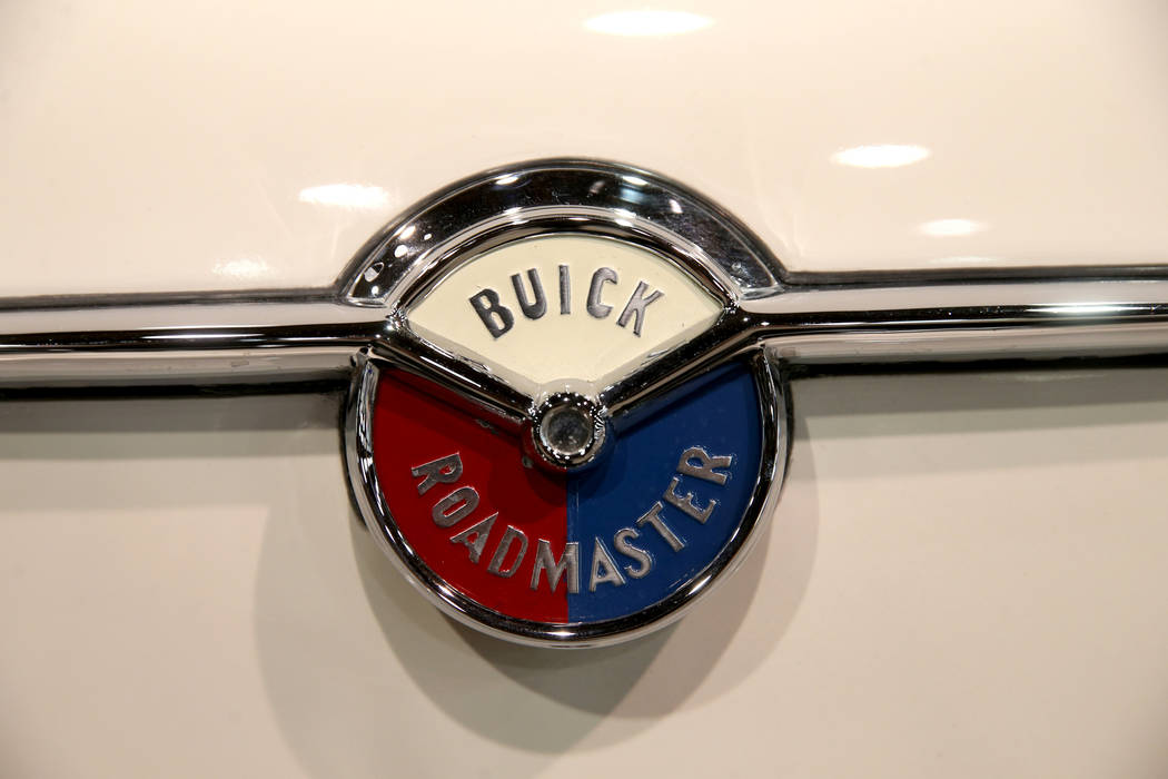 A 1954 Buick Roadmaster during Mecum Las Vegas auction at the Las Vegas Convention Center Thurs ...