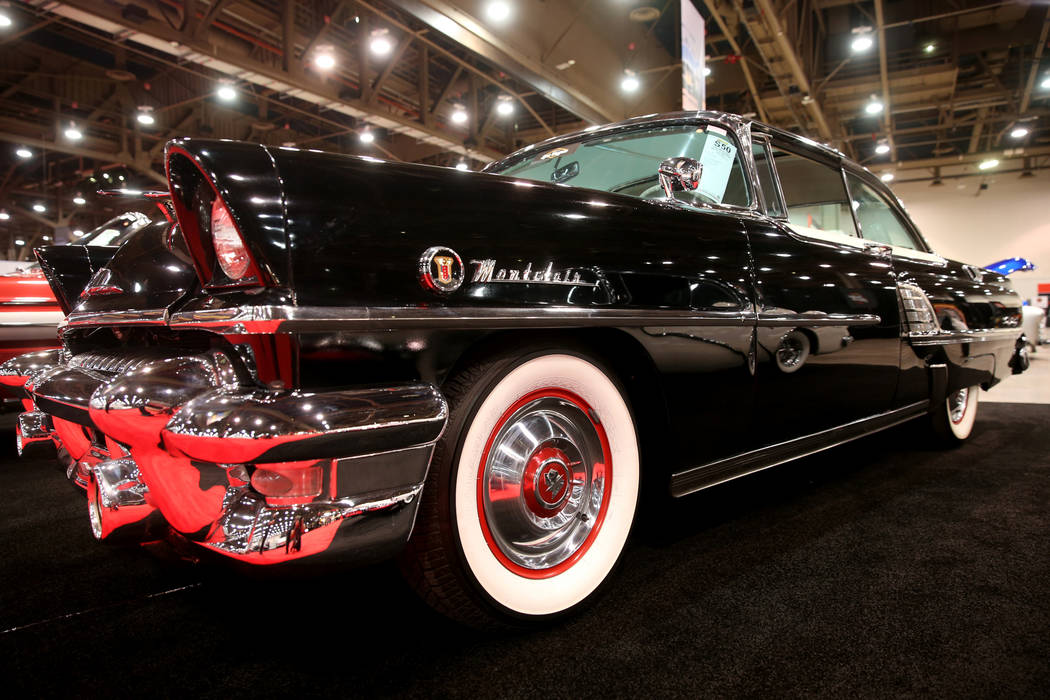 A 1955 Mercury Montclair Sun Valley that will be in the Saturday auction during Mecum Las Vegas ...