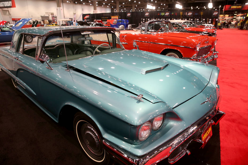 A 1960 Ford Thunderbird that will be in the Saturday auction during Mecum Las Vegas auction at ...