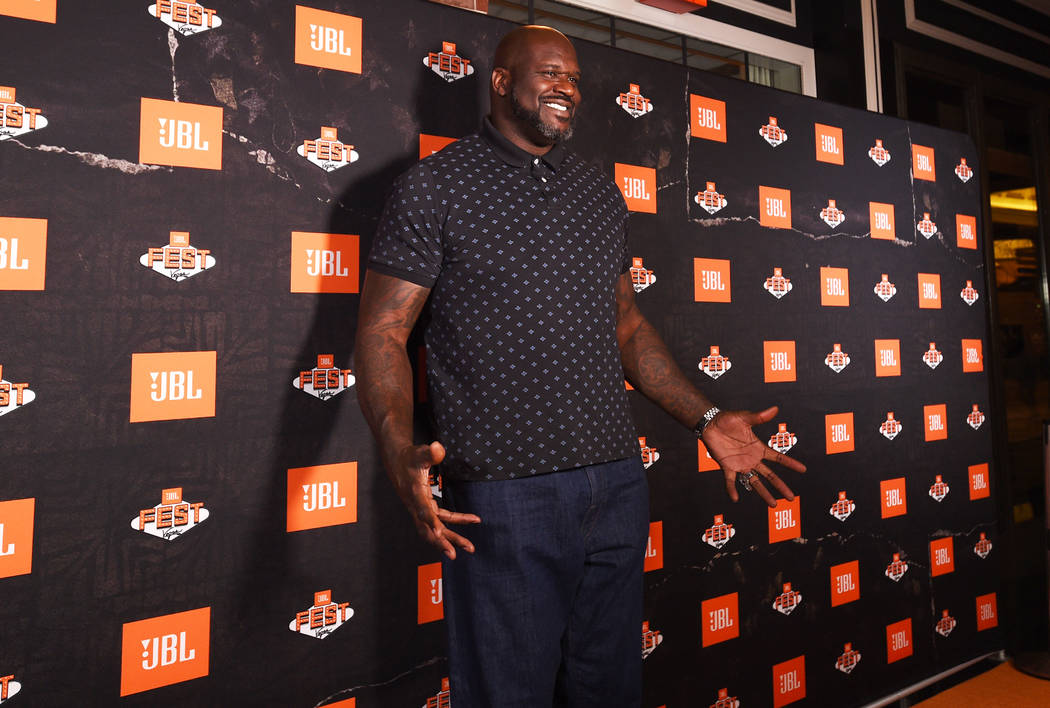 Shaquille O'Neal arrives at Omnia Nightclub for night one of JBL Fest 2019 at Caesars Palace o ...