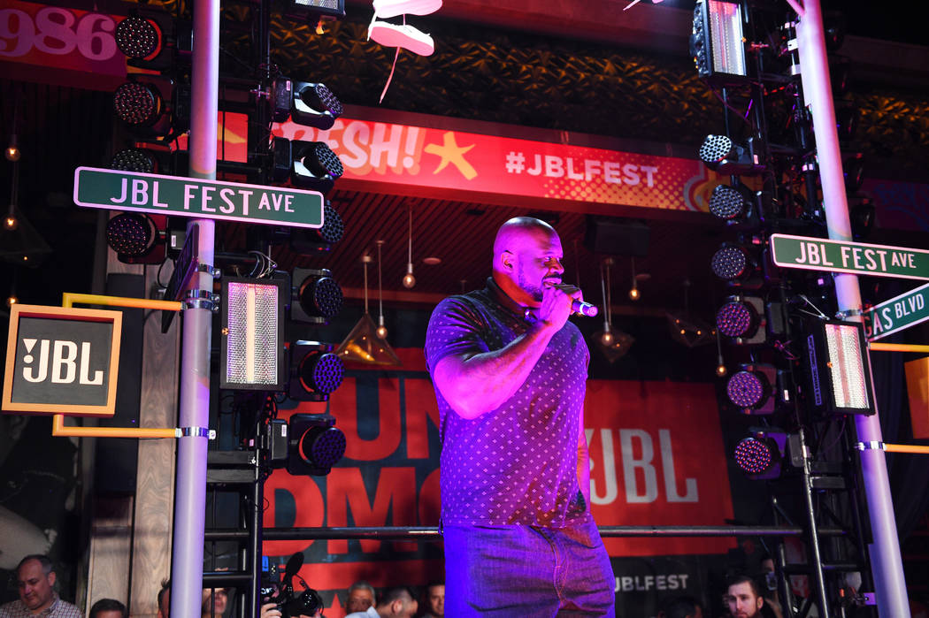 Shaquille O'Neal aka DJ Diesel gets the party started at JBL REMIX at Omnia Nightclub at Caesar ...