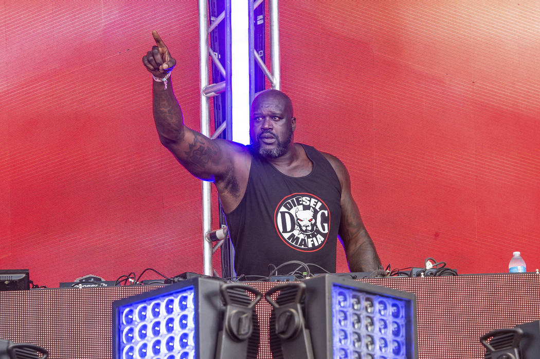 DJ Diesel performs on day four of Lollapalooza in Grant Park on Sunday, Aug. 4, 2019, in Chicag ...
