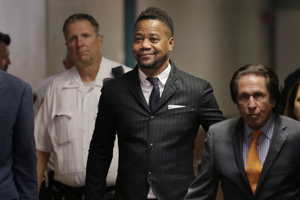 Cuba Gooding Jr. arrives to a courtroom in New York, Thursday, Oct. 10, 2019. The actor is ac ...