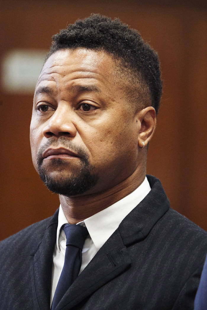 Cuba Gooding Jr. appears in a courtroom in New York, Thursday, Oct. 10, 2019. The actor is accu ...