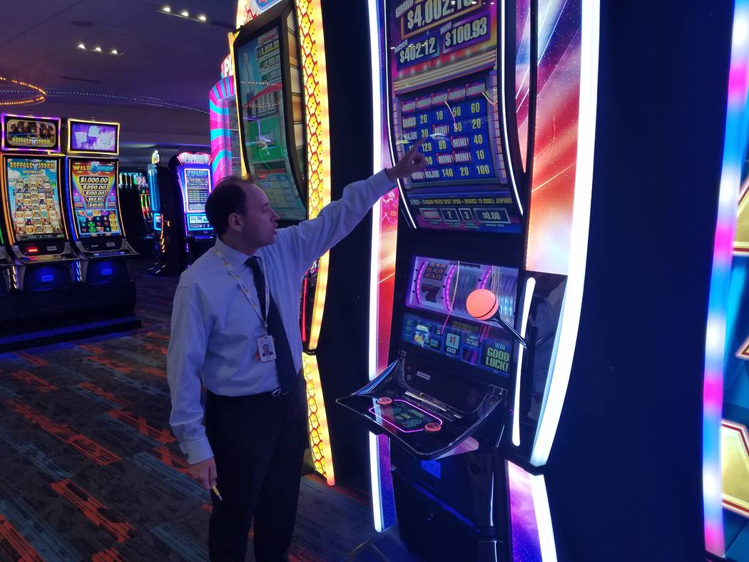 """This is """"Jeopardy!"""", a new slot machine game produced by IGT that will be demonstrated at this ..."""