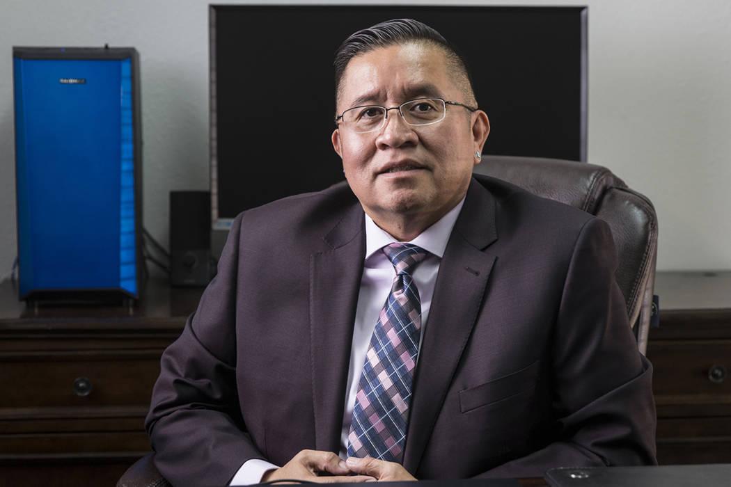 Rulon Pete, executive director of the Las Vegas Indian Center, Friday, Oct. 11, 2019, in Las Ve ...