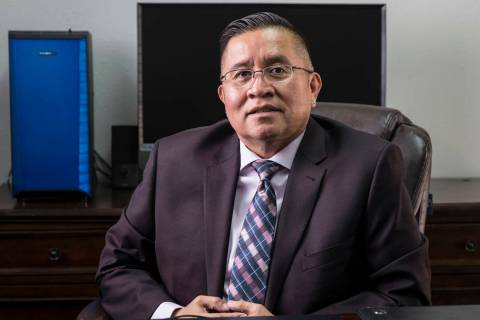 Rulon Pete, executive director of the Las Vegas Indian Center, Friday, Oct. 11, 2019, in Las Ve ...