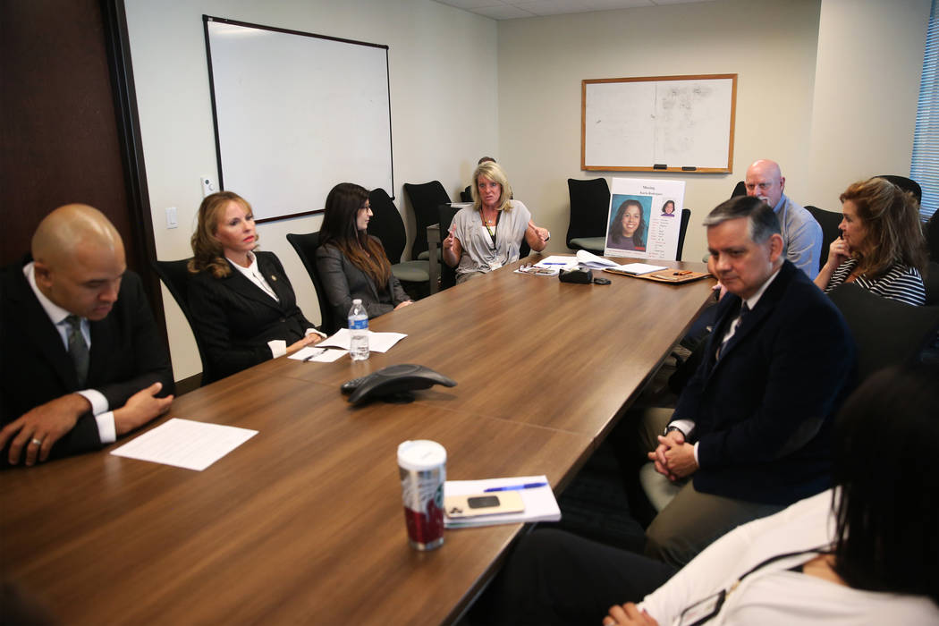 Members of the FBI and Metropolitan Police Department are interviewed about the cold case of Ka ...