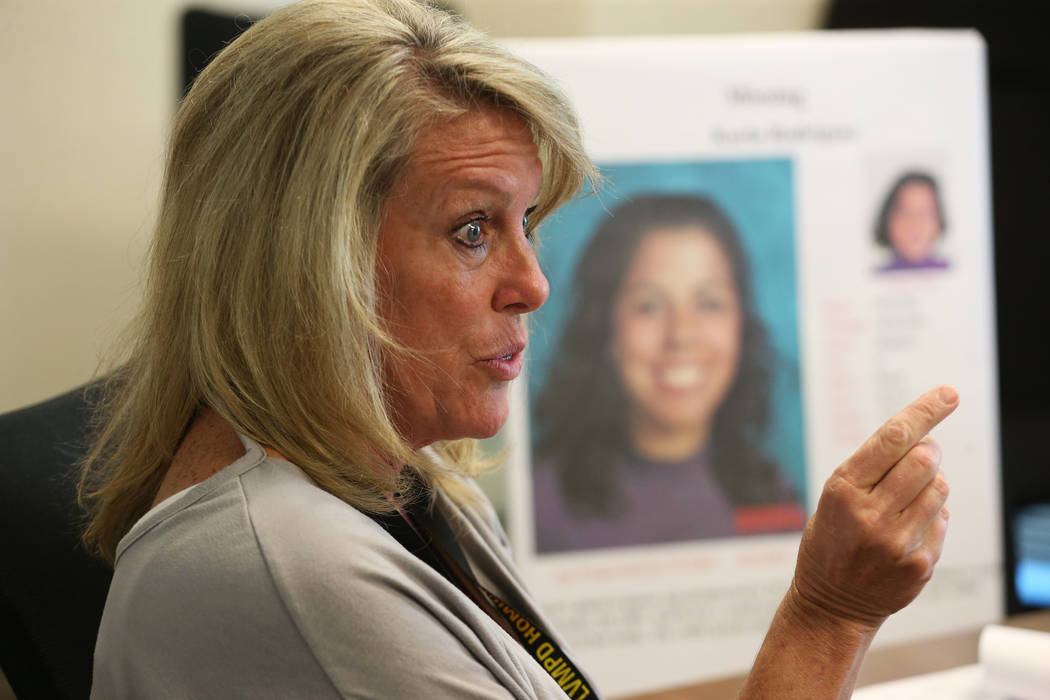 Homicide cold case investigator Terri Miller is interviewed about the cold case of Karla Rodrig ...