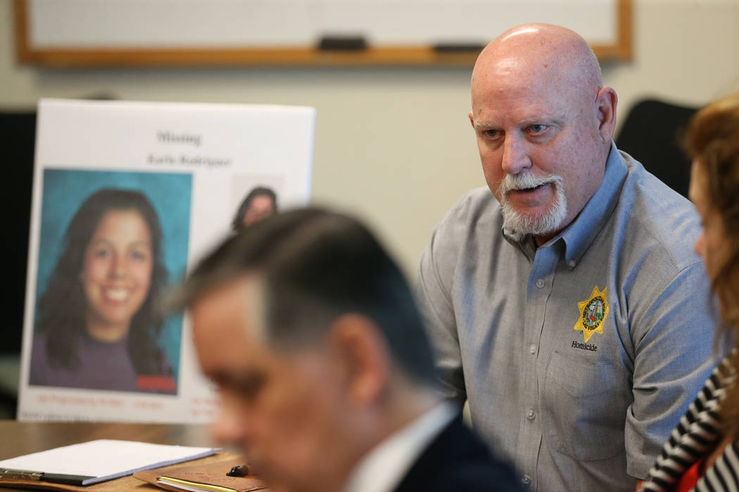 Las Vegas police homicide cold case investigator Dan Long is interviewed about the case of Karl ...
