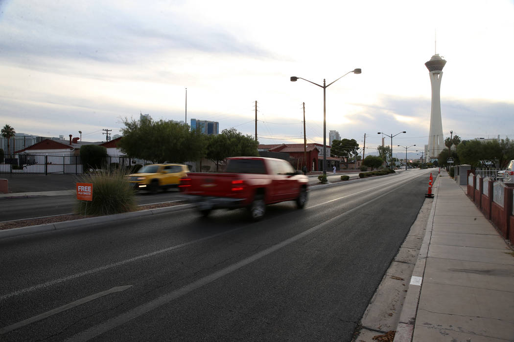 The intersection of South Eighth Street and St. Louis Avenue in Las Vegas, near the home at 705 ...