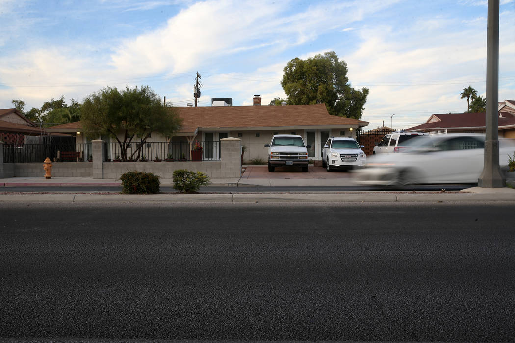 The home at 705 E. St. Louis Ave. in Las Vegas, where Karla Rodriguez lived with her family bef ...