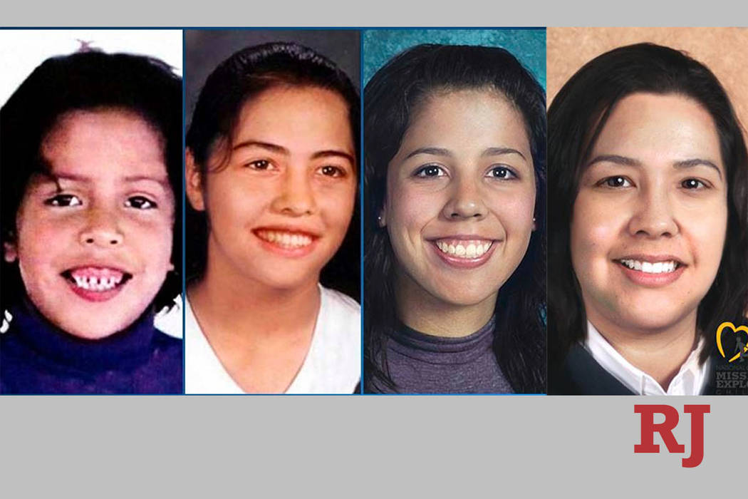 Karla Rodriguez, from left, is shown at age 7 in 1999, when she disappeared from her Las Vegas ...