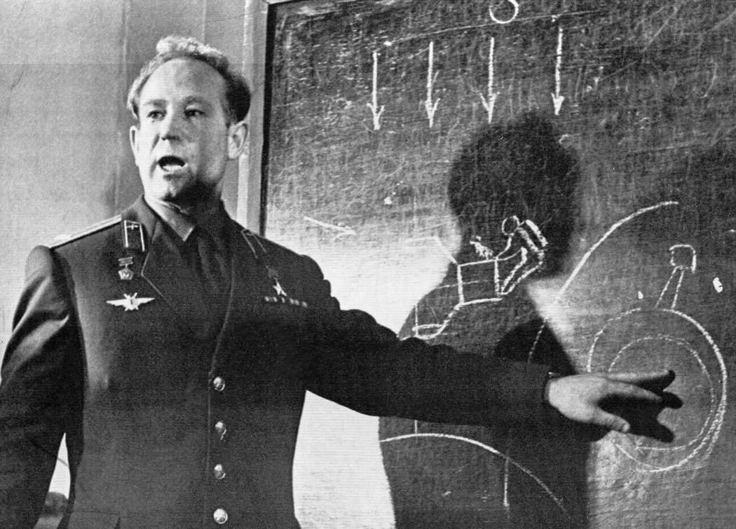 FILE - In this March 26, 1965 file photo, Cosmonaut Alexei Leonov, who stepped into space from ...