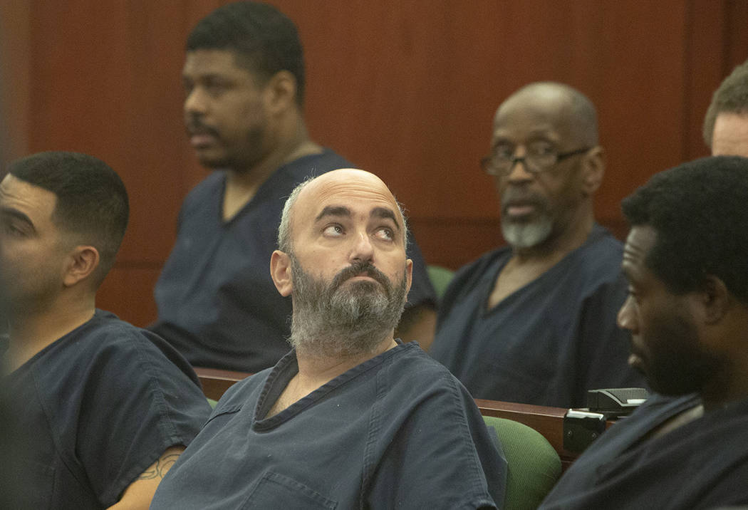 Kenneth Strauss looks around during his hearing at Regional Justice Center on Tuesday, Sept. 10 ...
