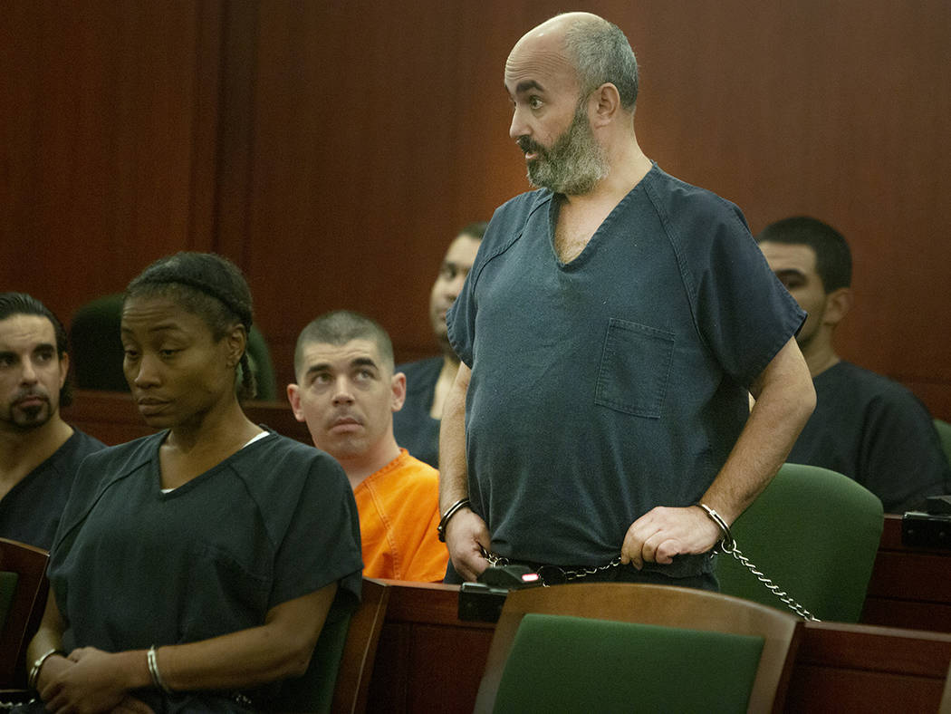 Kenneth Strauss talks to the judge during his hearing at Regional Justice Center on Tuesday, Se ...