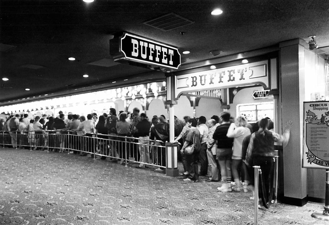 Thousands of tourists and local residents line up daily at the Circus Circus buffet, one of the ...