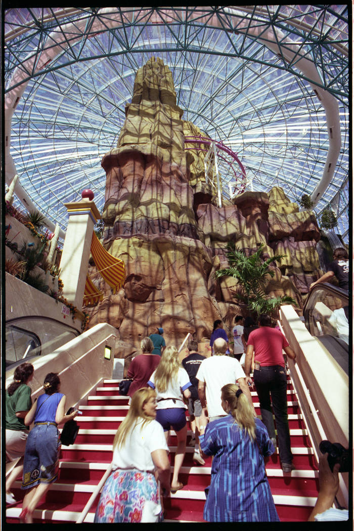 The Grand Slam Canyon inside the Adventure Dome at Circus Circus holds its grand opening in Aug ...