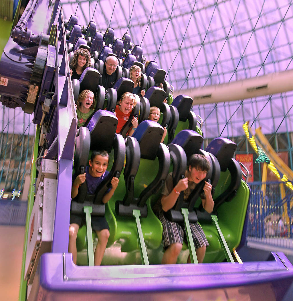Students scream as they ride the inverter at Adventuredome Friday, April 22, 2011 at Circus Cir ...