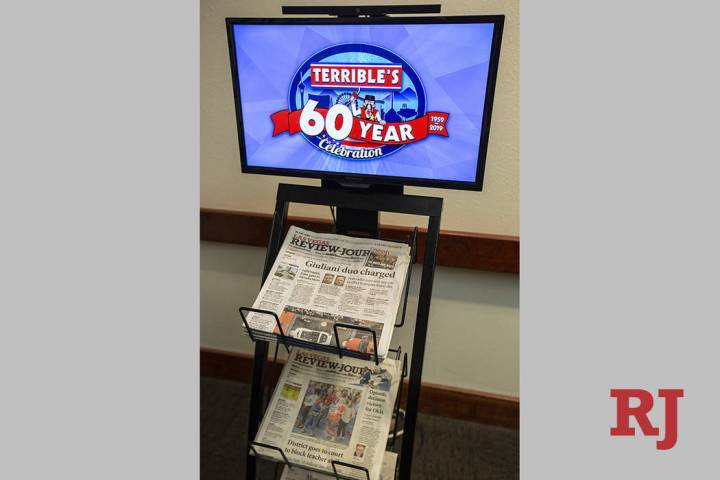 The RJ Network newspaper stand blends traditional print and visual media and is currently offer ...