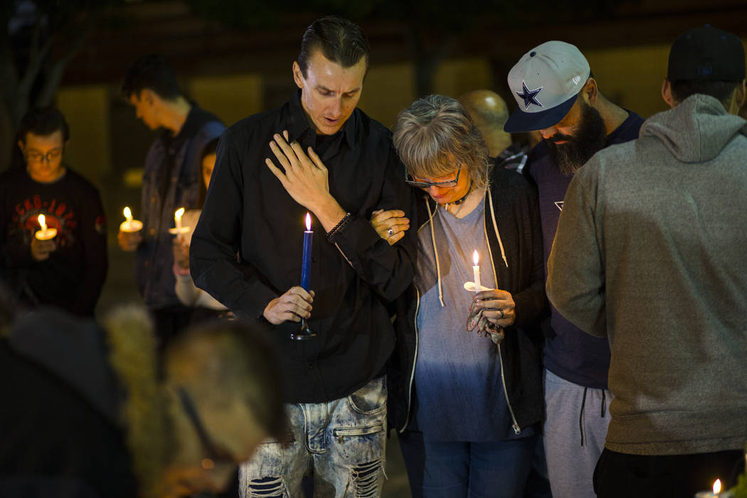 Sean Murray, left, and his mother Kathleen Wheeler, mourn his 6-year-old Gavin Murray Palmer, s ...