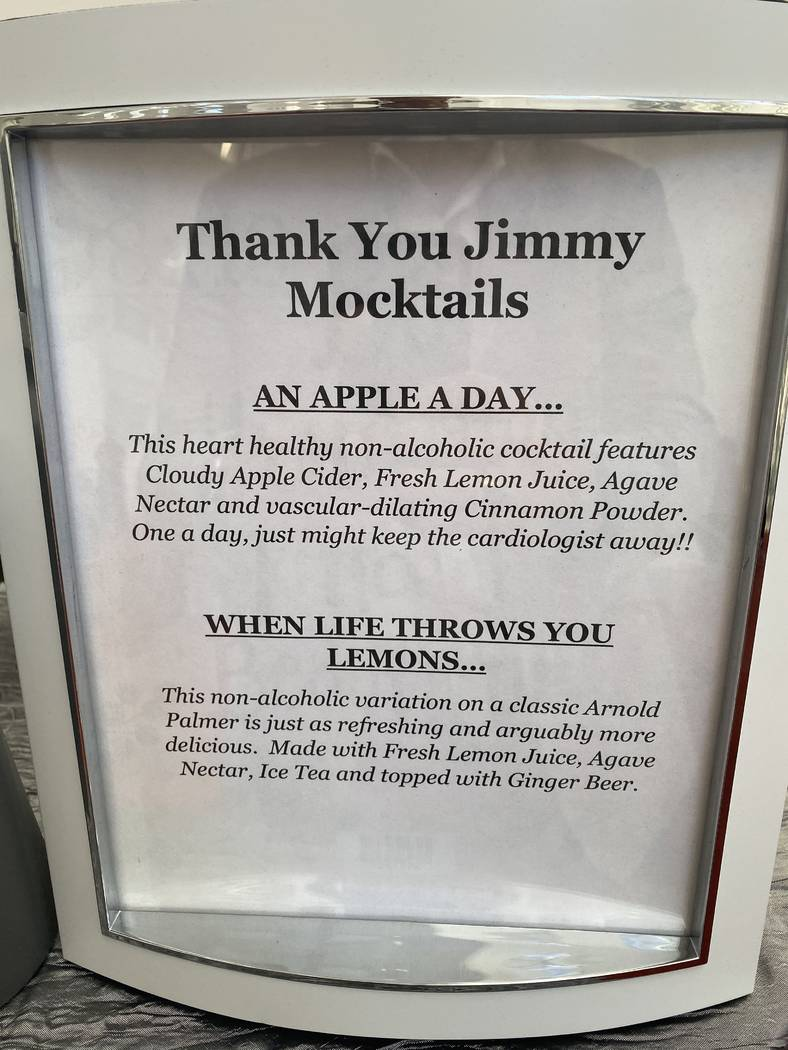Some mocktails created to honor Jimmy Kimmel at the Cleveland Clinic Lou Ruvo Center for Brain ...