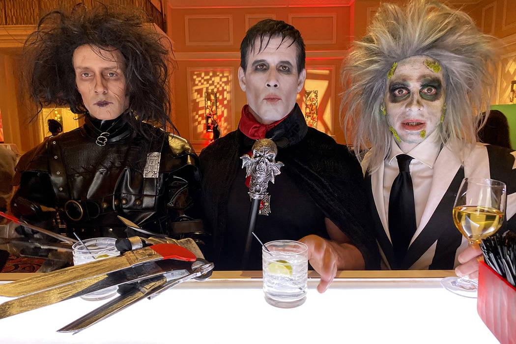 Jeff Damon of Las Vegas, Gary Lewandowski of Los Angeles, and Rick Decarlo of Las Vegas during ...