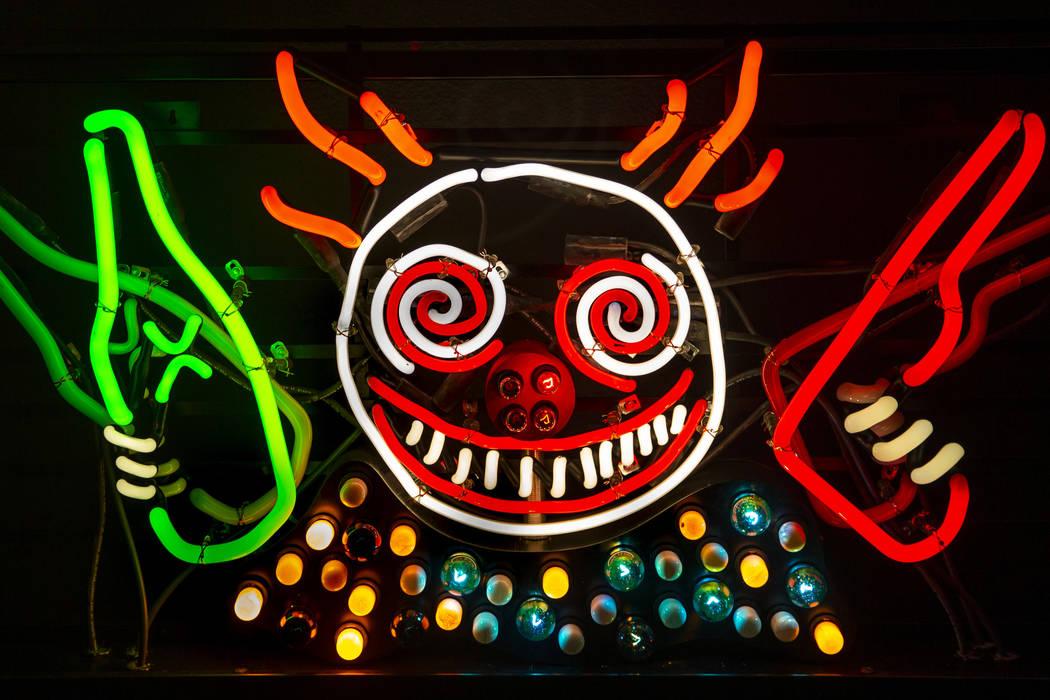 "Art piece ""Guns 'N' Booze"" by Tim Burton hangs in his Lost Vegas art exhibition at th ..."