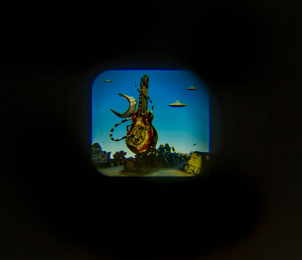 "Art piece ""Viewports"" by Tim Burton in his Lost Vegas art exhibition at the Neon Muse ..."
