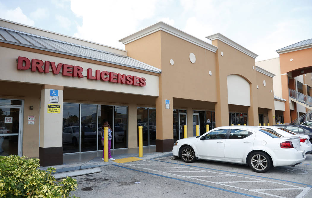 A Florida Highway Safety and Motor Vehicles drivers license service center is shown, Tuesday, O ...