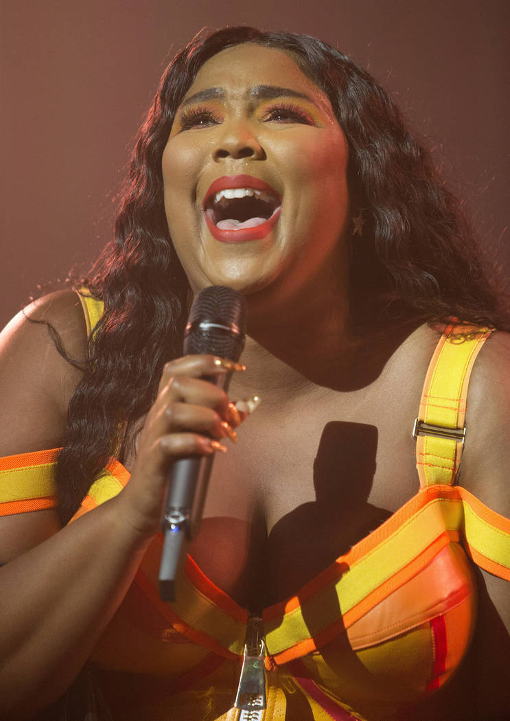 """Lizzo performs in concert during her """"Cuz I Love You Too Tour"""" at The Met on Wednesda ..."""