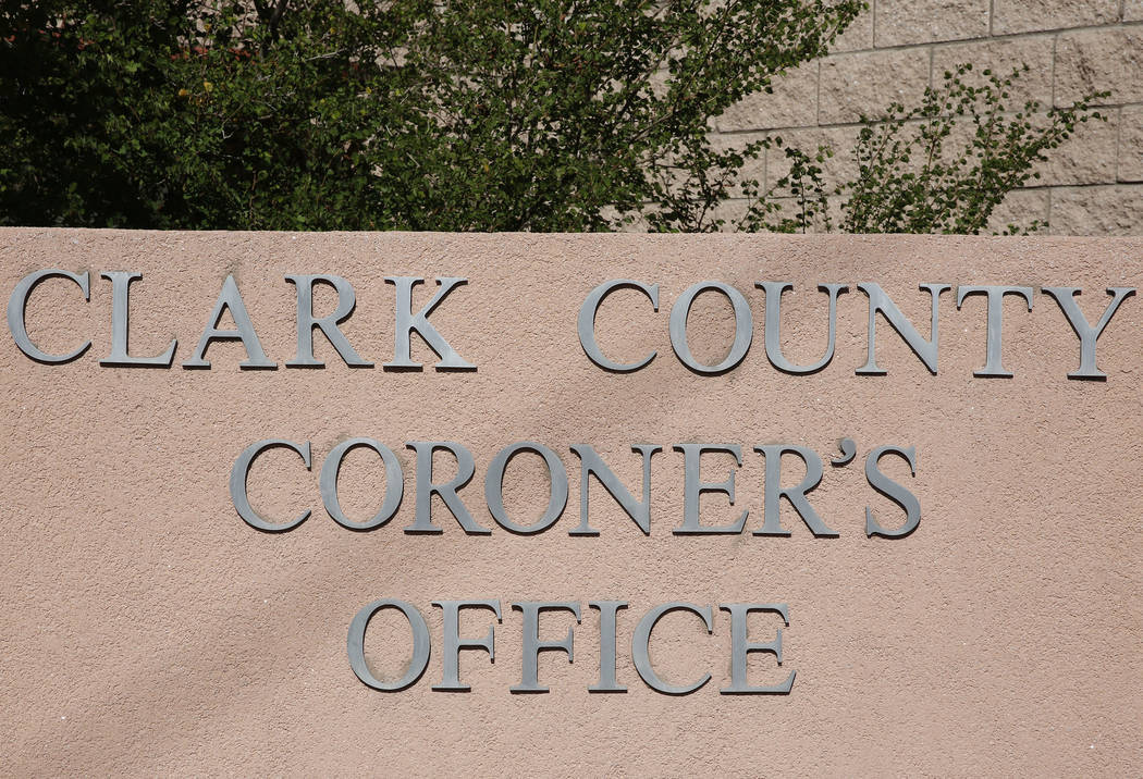 Clark County Coronor's office (Review-Journal file photo)