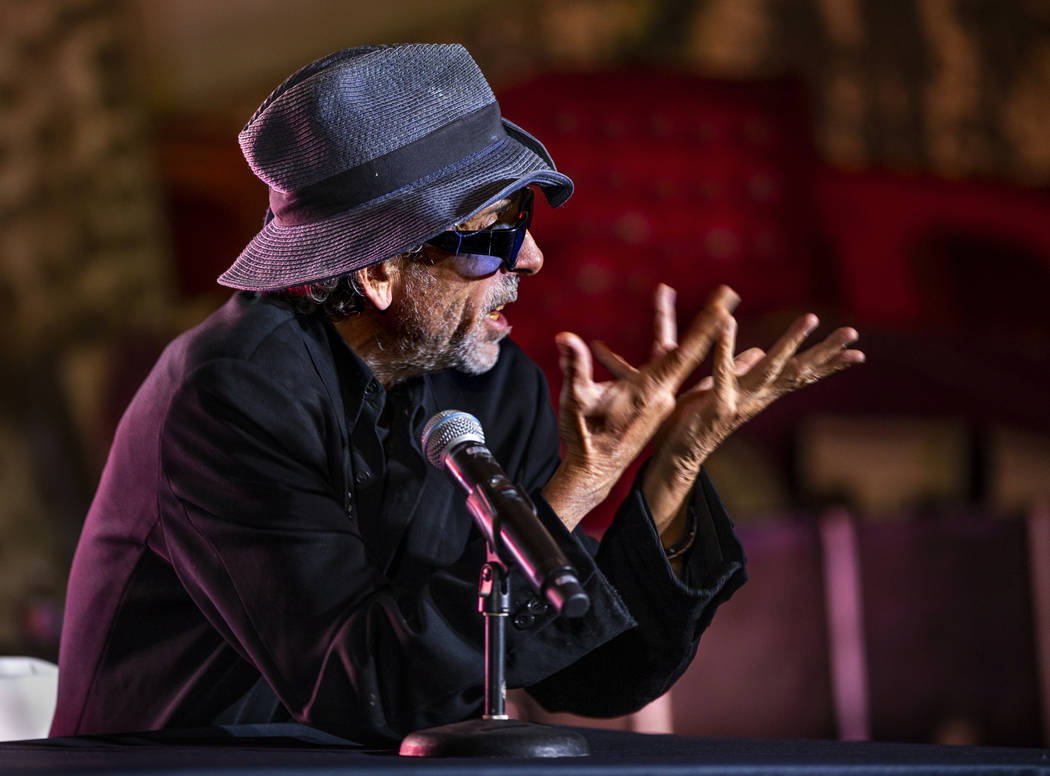Director and artist Tim Burton speaks about his new Lost Vegas art exhibition at the Neon Museu ...