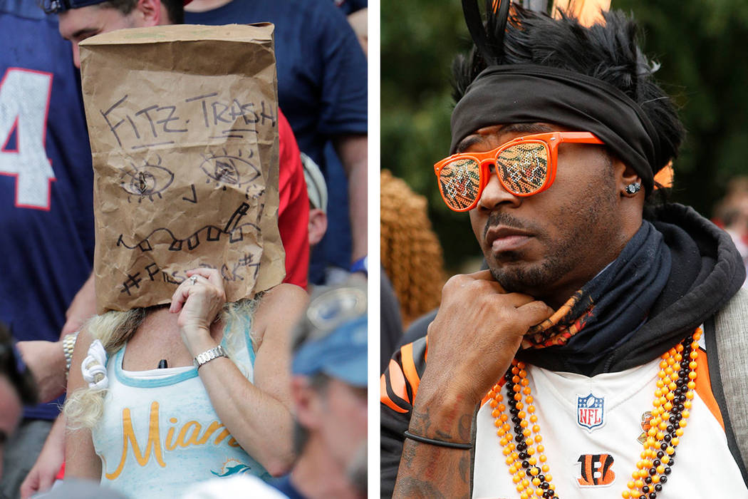 The fans of the Miami Dolphins (left) and Cincinnati Bengals might be happier if they get to se ...