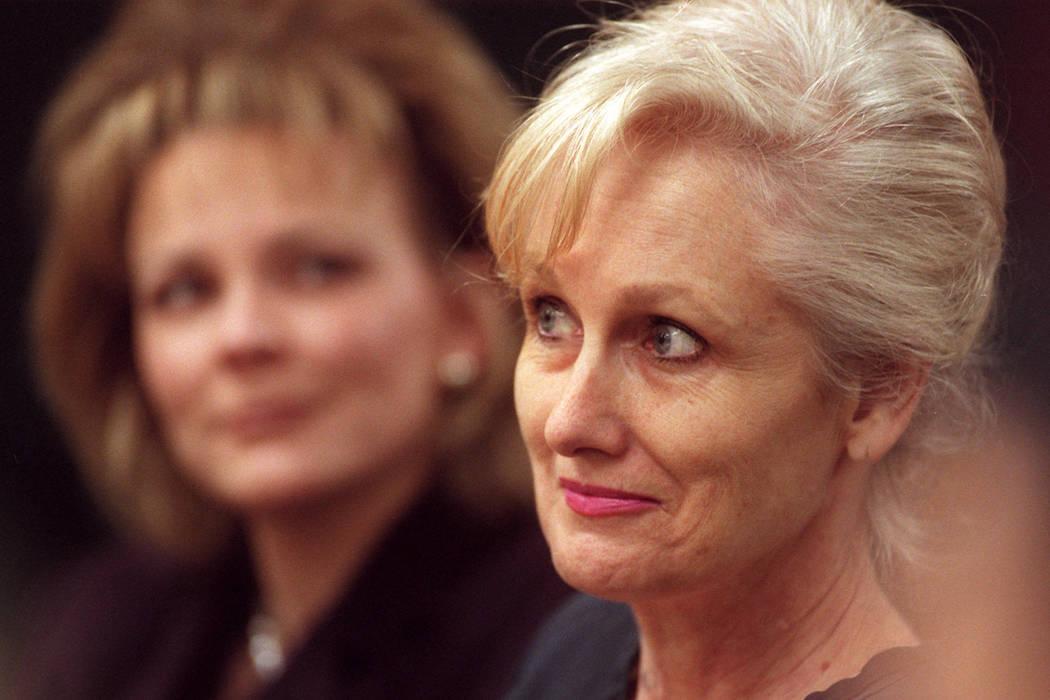 Margaret Rudin in Judge Joe Bonaventures court on Dec. 15, 2000. (Las Vegas Review-Journal file)